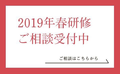 2019年春研修ご相談受付中